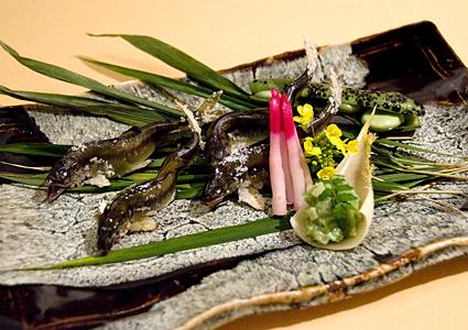 琵琶湖活け若鮎 おどり串塩焼き